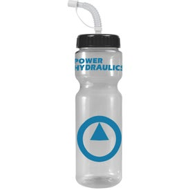 Transparent Color Bottle with Straw Lid for Promotion