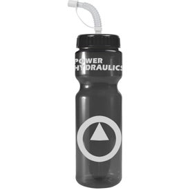 Transparent Color Bottle with Straw Lid with Your Logo