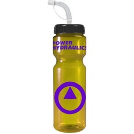 Customized Transparent Color Bottle with Straw Lid