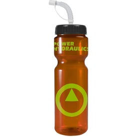 Personalized Transparent Color Bottle with Straw Lid