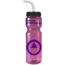 Promotional Transparent Color Bottle with Straw Lid
