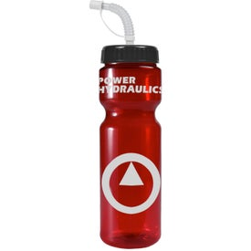 Transparent Color Bottle with Straw Lid for Customization