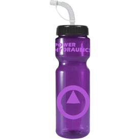 Transparent Color Bottle with Straw Lid for Your Organization
