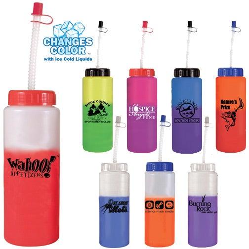 Mood Sports Bottle with Flexible Straw (32 Oz.)