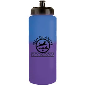 Monogrammed Mood Sports Bottle with Push 'n Pull Cap