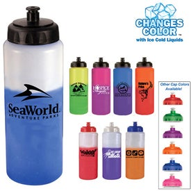 Mood Sports Bottle with Push 'n Pull Cap (32 Oz.)