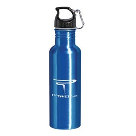 Aluminum Bottle with Carabiner (28 Oz.)