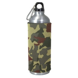 Printed Aluminum Sport Bottle with Sleeve