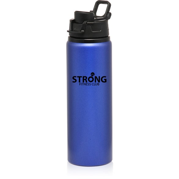 Blue Aluminum Water Bottle with Snap Lid