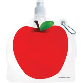 Advertising HydroPouch Apple Collapsible Water Bottle