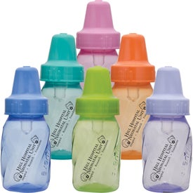 Assorted Color Evenflo Baby Bottles (4 Oz.)