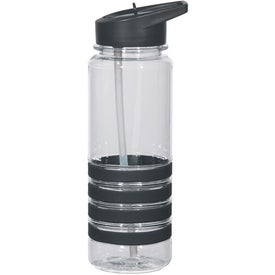 Personalized Banded Gripper Bottle With Straw