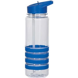 Banded Gripper Bottle With Straw with Your Logo