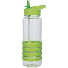 Banded Gripper Bottle With Straw for Customization