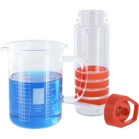 Banded Gripper Bottle With Straw for your School