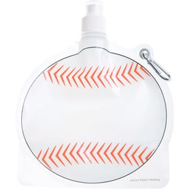 HydroPouch! Baseball Collapsible Water Bottle for Customization