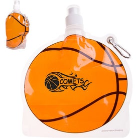 HydroPouch! Basketball Collapsible Water Bottle (24 Oz.)
