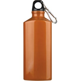 Bermuda Aluminum Bottle with Carabiner Printed with Your Logo