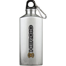 Advertising Bermuda Aluminum Bottle with Carabiner