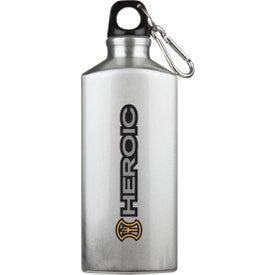 Advertising Bermuda Aluminum Bottle with Carabiner