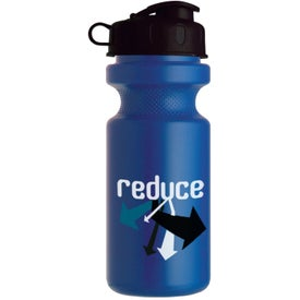 Bike Bottle with Flip Top Branded with Your Logo
