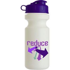 Logo Bike Bottle with Flip Top