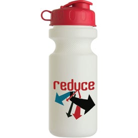 Advertising Bike Bottle with Flip Top