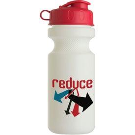Advertising Bike Bottle with Flip Top