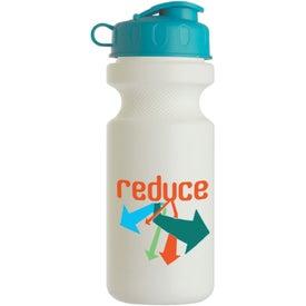 Custom Bike Bottle with Flip Top