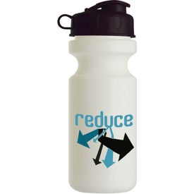 Bike Bottle with Flip Top Imprinted with Your Logo