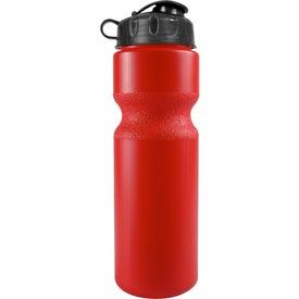 Logo Bike Bottle with Flip Top Lid