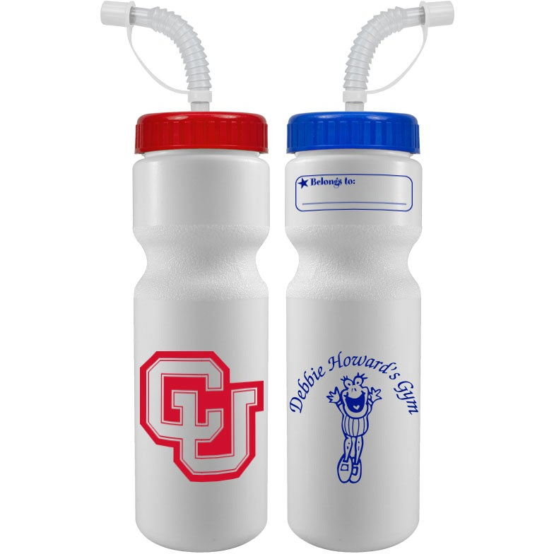 Click Here To Order 28 Oz Bike Bottle With Straw Caps