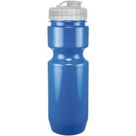 Opaque Bike Bottle With Flip Top Lid (22 Oz.)