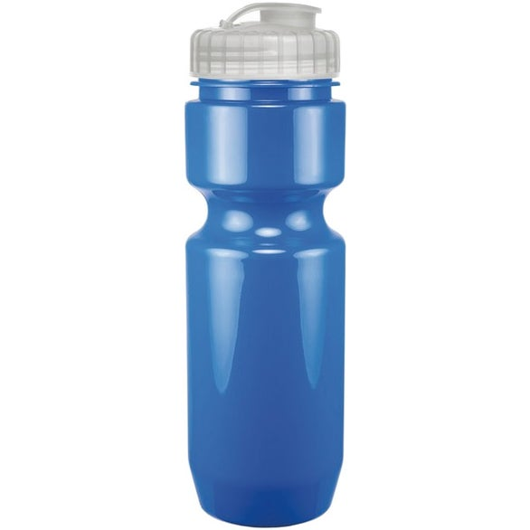 Opaque Bike Bottle With Flip Top Lid