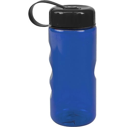 Translucent Blue Mini Mountain Bottle with Tethered Lid