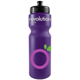 Printed Bike Bottle with Push Pull Cap