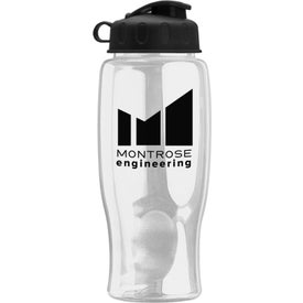Poly-Pure Bottle with Flip Lid Branded with Your Logo