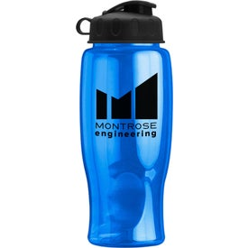 Poly-Pure Bottle with Flip Lid with Your Logo