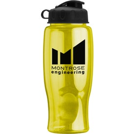 Poly-Pure Bottle with Flip Lid with Your Slogan