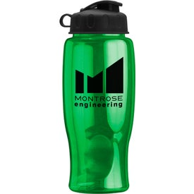 Imprinted Poly-Pure Bottle with Flip Lid