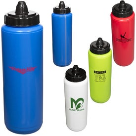 Budget Squeezable Water Bottle (34 Oz.)