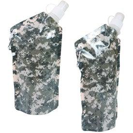 Imprinted Digital Camouflage Smushy Flexible Water Bottle