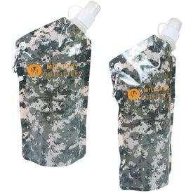 Imprinted Digital Camouflage Smushy Flexible Water Bottle