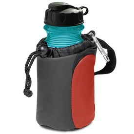 Imprinted Carabiner Tote with Sport Bottle Set