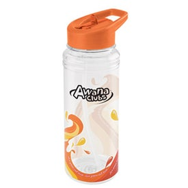 Clear Wave Water Bottle for your School