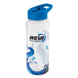 Branded Clear Wave Water Bottle