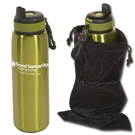 Imprinted Click 'n Sip Bottle with Pouch