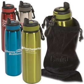 Click 'n Sip Bottle with Pouch with Your Slogan