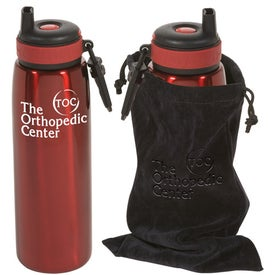 Logo Click 'n Sip Bottle with Pouch