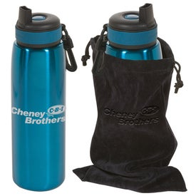 Customized Click 'n Sip Bottle with Pouch